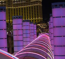 Bally's Las Vegas Neon Rings in Violet by urbanphotos