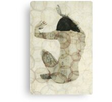 Imprinted Woman Canvas Print