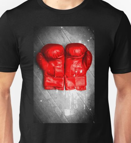 Bright red boxing gloves Unisex T-Shirt