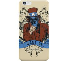Oil For Uncle Sam iPhone Case/Skin