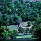 Canoist on Rydal Water Lake District England 198405200019 by Fred Mitchell