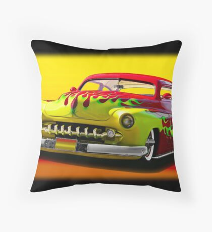 1950 Mercury Custom Coupe II Throw Pillow