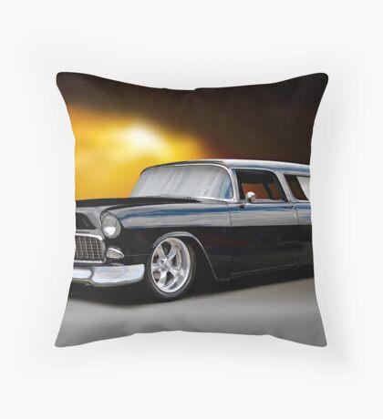 1955 Chevrolet Nomad Wagon Throw Pillow