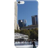 Bryant Park Skating Rink, Bryant Park, New York City iPhone Case/Skin
