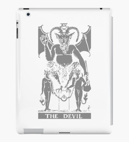 THE DEVIL - Tarot Card Design (grey) iPad Case/Skin