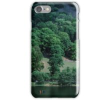 Canoist at Nab Cottage end of Rydal Water Lake District England 19840520 0021 iPhone Case/Skin