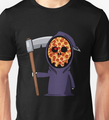 Grim Pizza Unisex T-Shirt