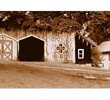 Gothic Barn Photographic Print