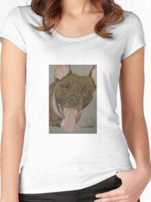 American Pit Bull Terrier III Women's Fitted Scoop T-Shirt