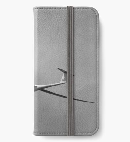 Black and white study of a glider. iPhone Wallet