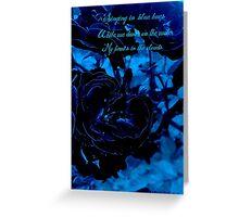 Hues of Blues Haiku Greeting Card