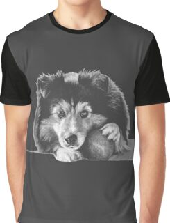 "Black and white puppers ""Curious"" Graphic T-Shirt"