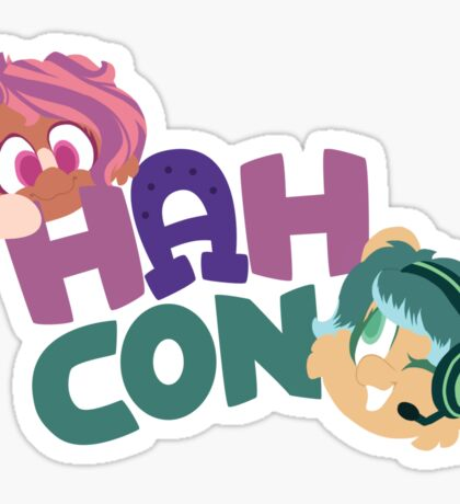 HAHcon with Cozy and Glitch Sticker