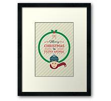 Home Alone Merry Christmas ya filthy Animal Framed Print