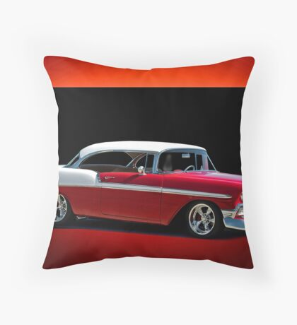 1956 Chevrolet Bel Air Hardtop Throw Pillow