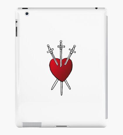 3 OF SWORDS - Tarot Card Design (red gradient heart) iPad Case/Skin