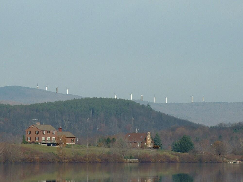 Windmills-taken from Sadawga Lake,Vt. by Brian Burdick