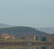 Windmills-taken from Sadawga Lake,Vt. by Brian Burdick