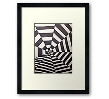 Crooked Optical Illusion Framed Print