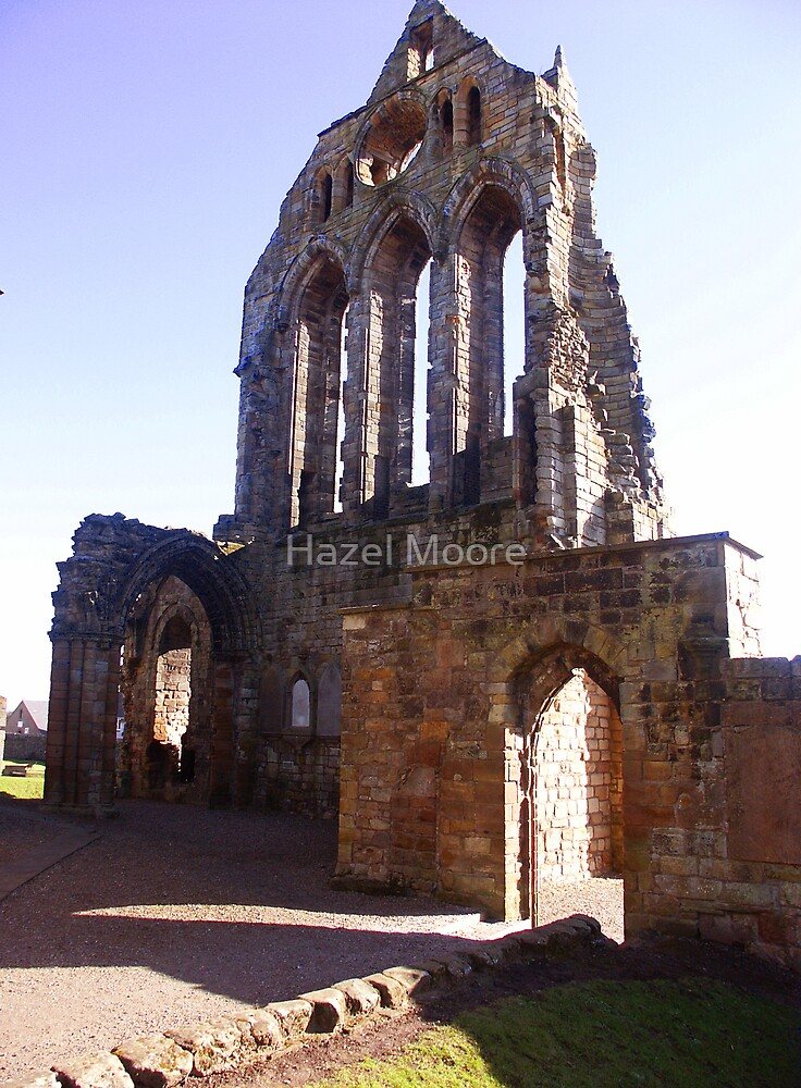 Section from the Kilwinning Abbey Ruin by Hazel Moore