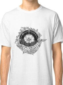 Compass and Whale Classic T-Shirt