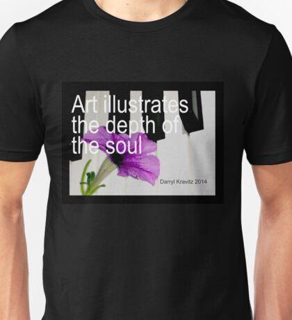 Art illustrates the depth of the soul by Darryl Kravitz 2014 Unisex T-Shirt