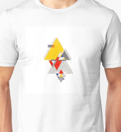 geometric primary triangles Unisex T-Shirt