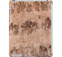 Bodhidharma and his followers wall paintings at Shaolin Temple art photo print iPad Case/Skin