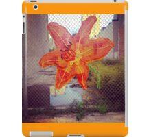 Yarn Art Flower in East Harlem, New York City iPad Case/Skin