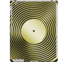 Vinyl LP Record - Metallic - Gold iPad Case/Skin