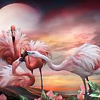 Flamingo Kiss by Carol  Cavalaris