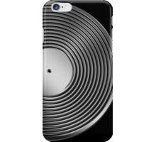 Vinyl LP Record - Metallic - Steel iPhone Case/Skin