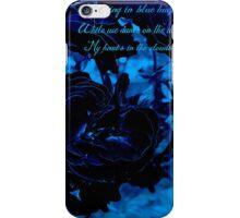 Hues of Blues Haiku iPhone Case/Skin