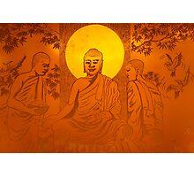 Artwork of Buddha with halo art photo print Photographic Print