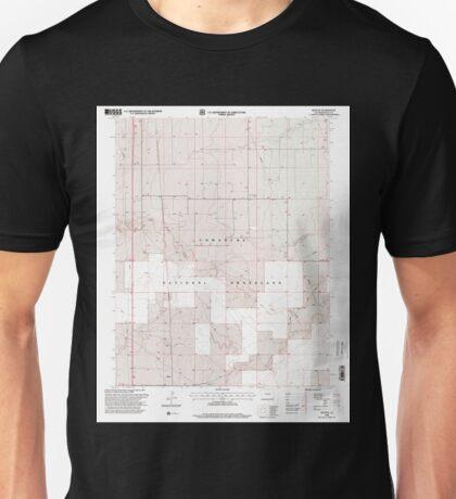 USGS TOPO Map Colorado CO Bisonte 232286 1996 24000 Unisex T-Shirt
