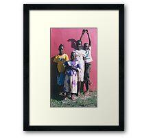 Cheeky Children Framed Print
