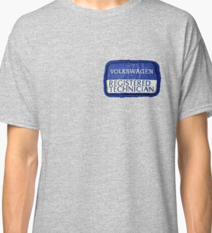 Volkswagen Registered Technician Vintage Patch Classic T-Shirt