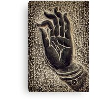 Vitarka Mudra Buddhist hand gesture art photo print Canvas Print