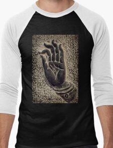 Vitarka Mudra Buddhist hand gesture art photo print Men's Baseball ¾ T-Shirt