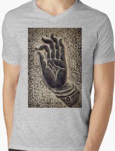 Vitarka Mudra Buddhist hand gesture art photo print Mens V-Neck T-Shirt