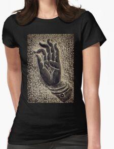 Vitarka Mudra Buddhist hand gesture art photo print Womens Fitted T-Shirt