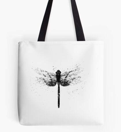 Dispersal - Grey Abstract Decaying Dragonfly Tote Bag
