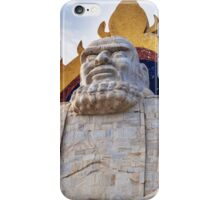 Bodhidharma statue on mount Song in DengFeng China art photo print iPhone Case/Skin