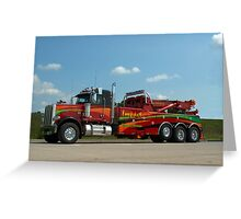 Impact Towing and Recovery Vehicle Greeting Card