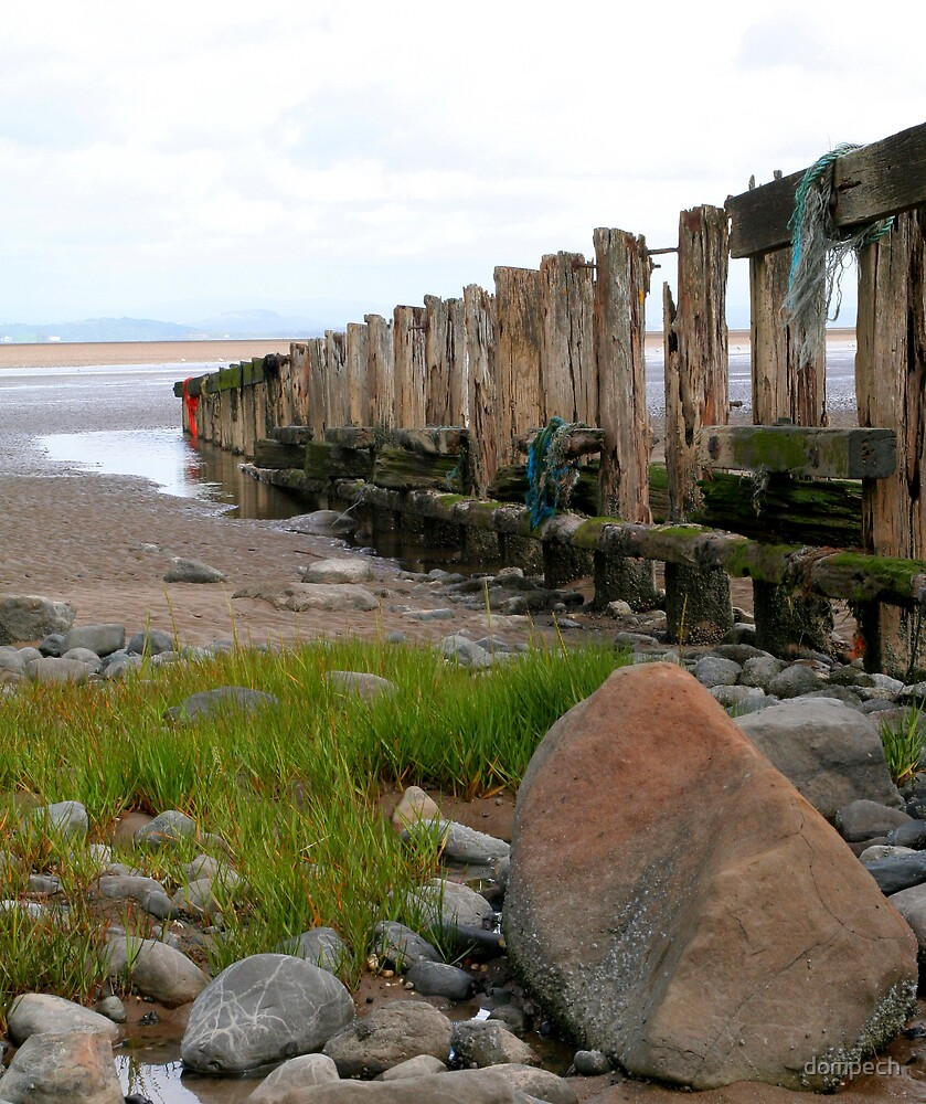 Beach groyne by dompech