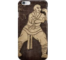 Shaolin monks artwork on a wall art photo print iPhone Case/Skin