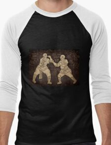 Shaolin monks artwork on a wall art photo print Men's Baseball ¾ T-Shirt
