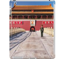 Military guard in front of Tiananmen in Beijing China art photo print iPad Case/Skin