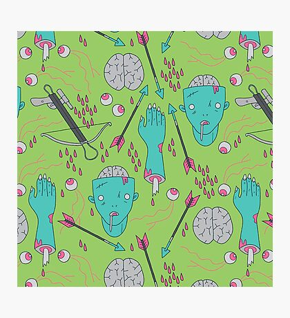 Zombie Soul Pattern Photographic Print