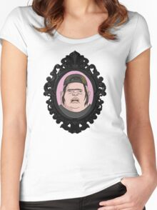 Fatty Ding Dong. Women's Fitted Scoop T-Shirt